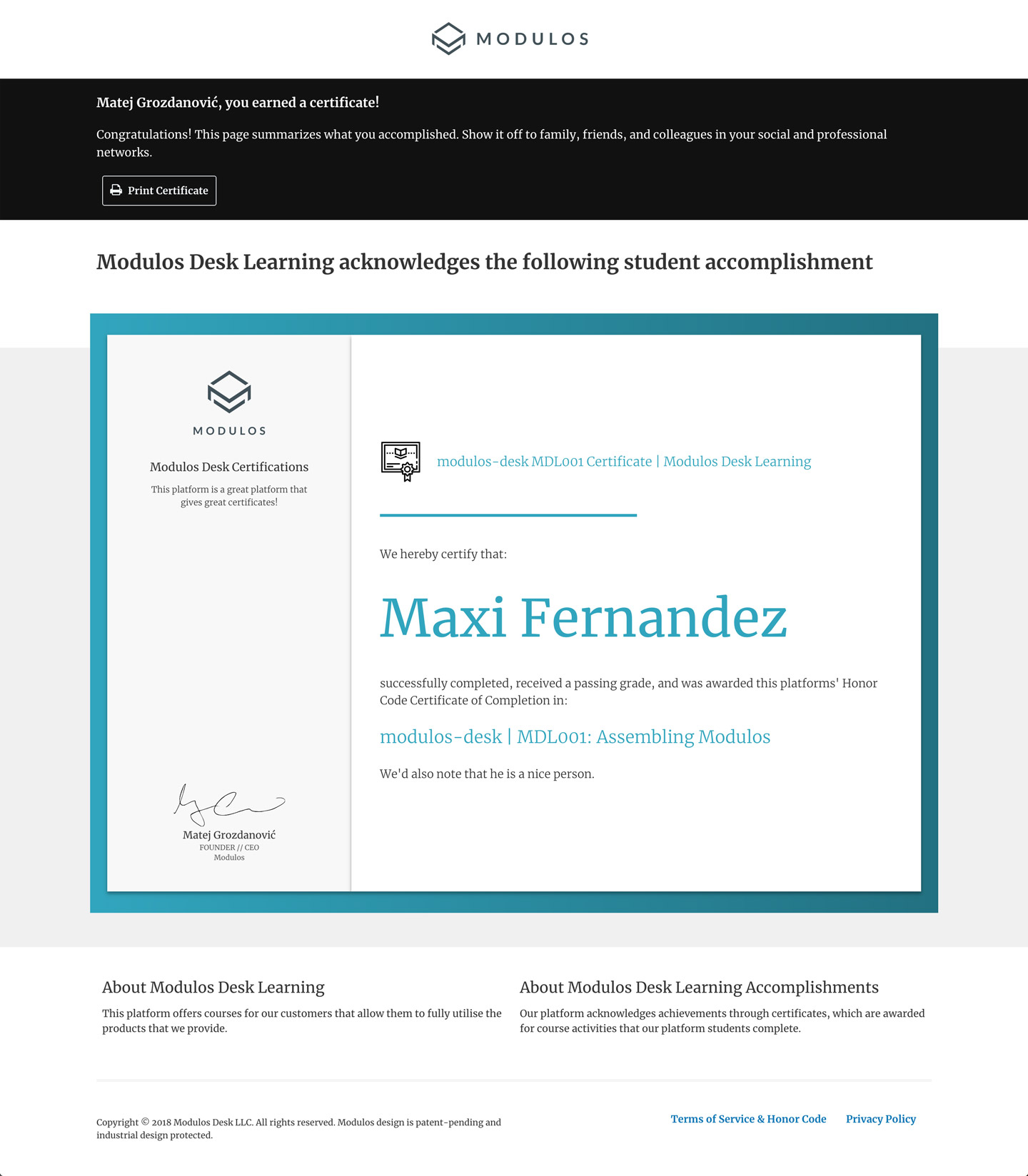 Recognize Your Learners Achievements With Branded Certificates