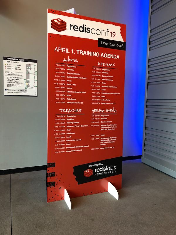 RedisConf19 Day 0 Training Agenda