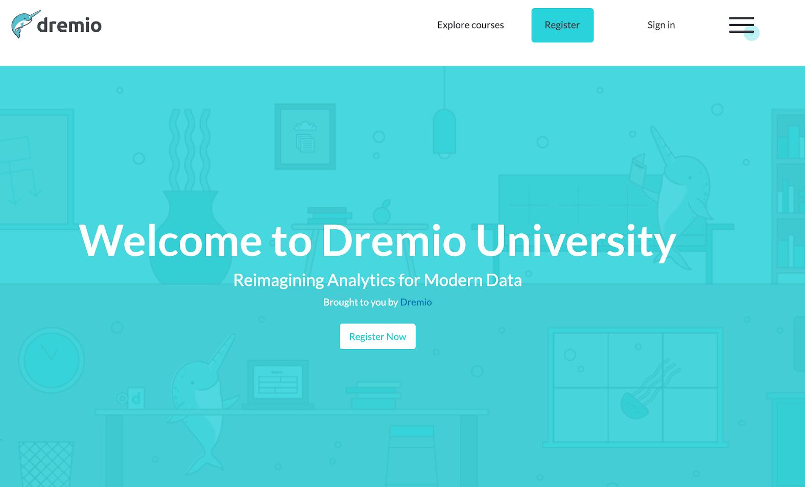 dremio using virtual training labs