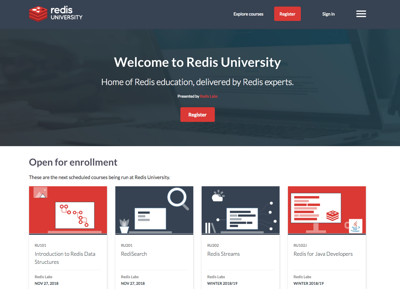 redisU online software learning